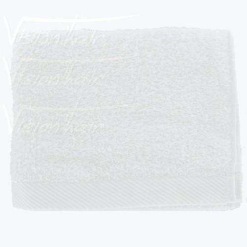 1 SERVIETTE EPONGE BLANCHES 100% COTTON